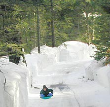 sledding areas in California