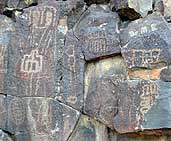 petroglyphs in mojave