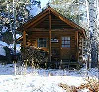 cabin in the mtns.