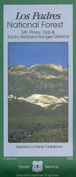 Los Padres National Forest Map: South
