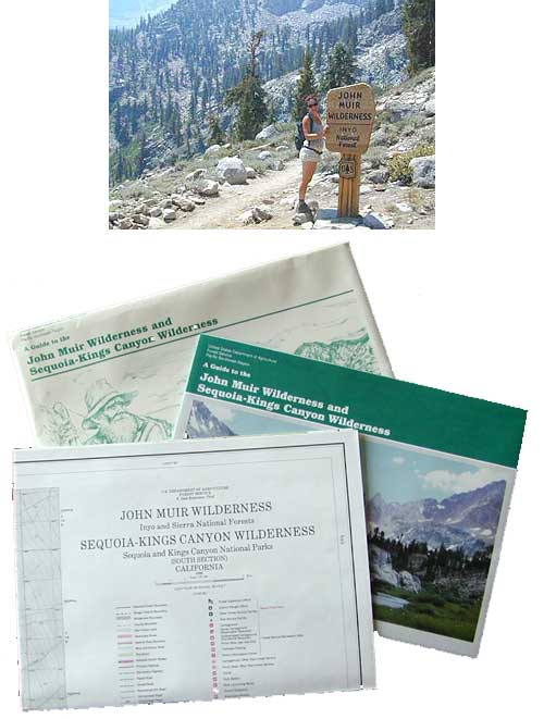 John Muir Wilderness/Kings Cyn Map