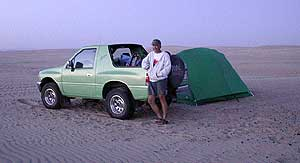 On the beach camping
