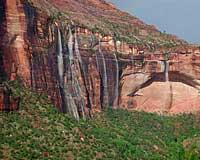 zion waterfalls