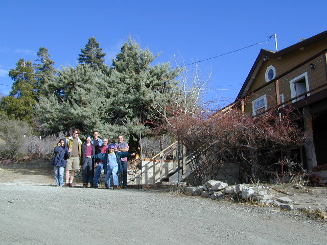 group at cabin