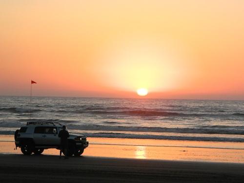 sunset oceano